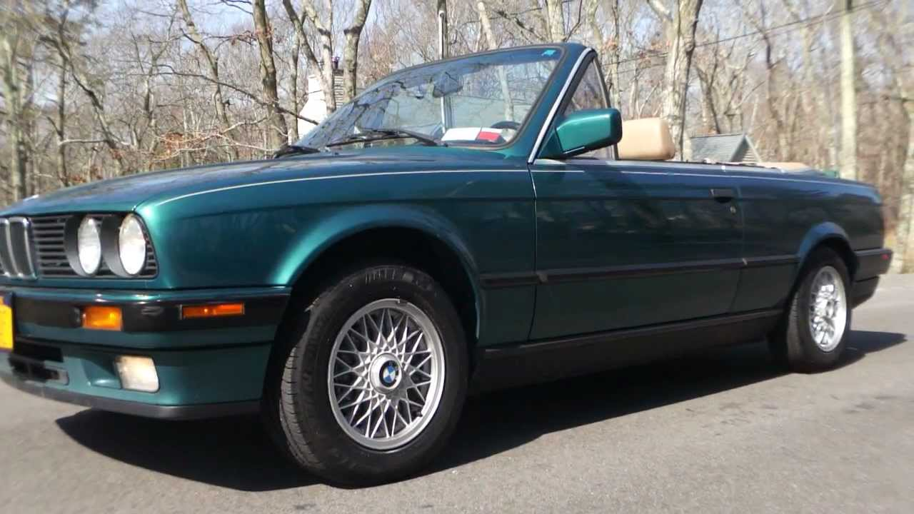 Review of 1992 BMW 325Ci Cabrio Convertible - YouTube