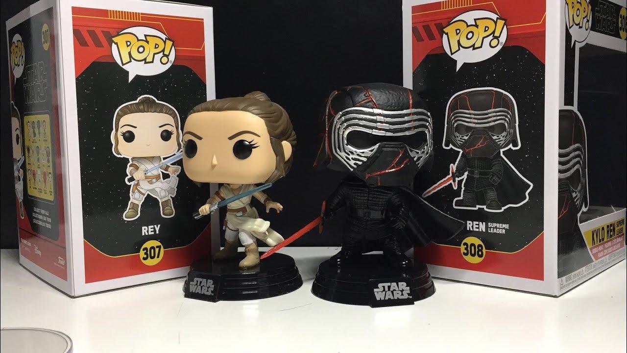 Funko Pop Star Wars Rise Of Skywalker Rey Kylo Ren Review Youtube