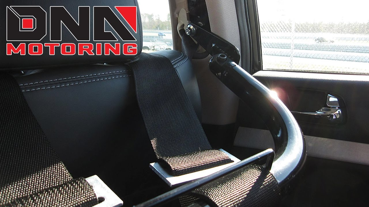 DNA Motoring Universal Seat Belt Harness Bar Tie Rod Installation
