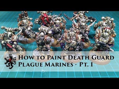 How to Paint Death Guard Part1 - Plague Marines