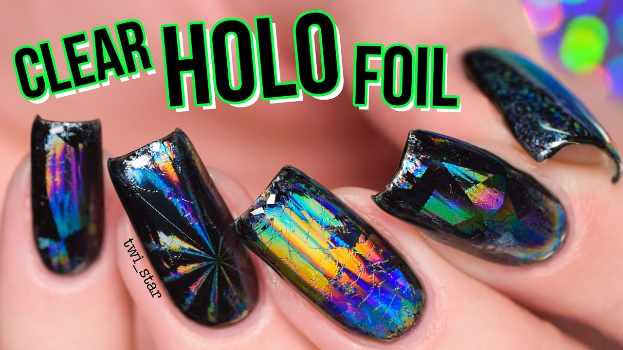 Holo Heaven! CLEAR Holographic Nail Foil - YouTube