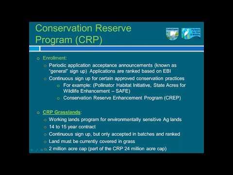 Farm Bill Conservation Programs  Collaboration between USFWS and USDA