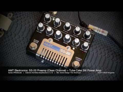 AMT Electronics: SS-20 Preamp and Tube Cake Power Amp (PRS Studio)