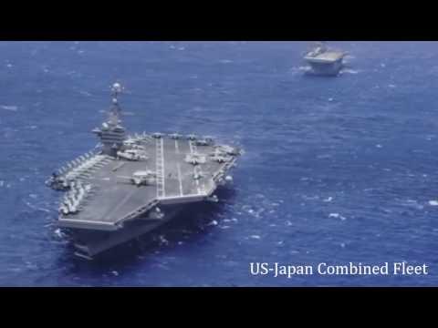 """USS Carl Vinson Strike Group arrives in Sea of Japan. """"Welcome to Sea of Japan"""""""