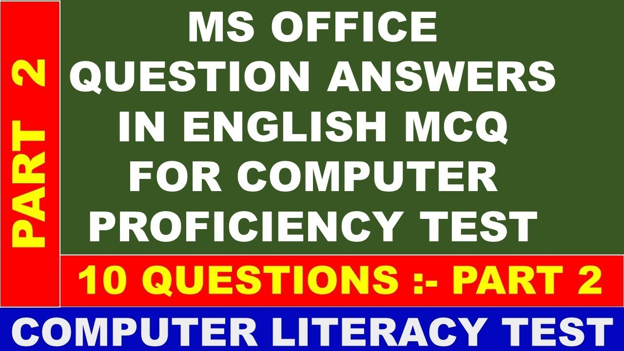 ms office test questions and answers