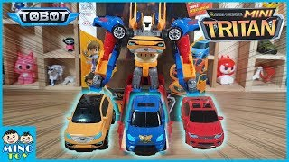 Tobot Mini Tritan 3 Cars X Y Z  combine! Triple integration! Toy review!