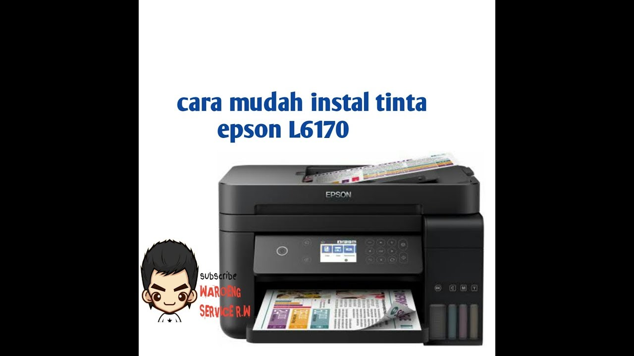 CARA INK CHARGING EPSON L6170,INSTAL INK,UNBOXING