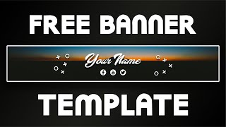 Free Youtube Banner for Vloggers Template | DRAGSTER
