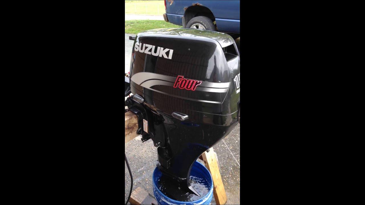 1999 15 hp 4 stroke suzuki outboard youtube for Suzuki outboard motors reviews