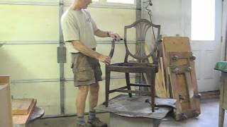 Restoring A Federal Armchair - Part 1 - Thomas Johnson Antique Furniture Restoration
