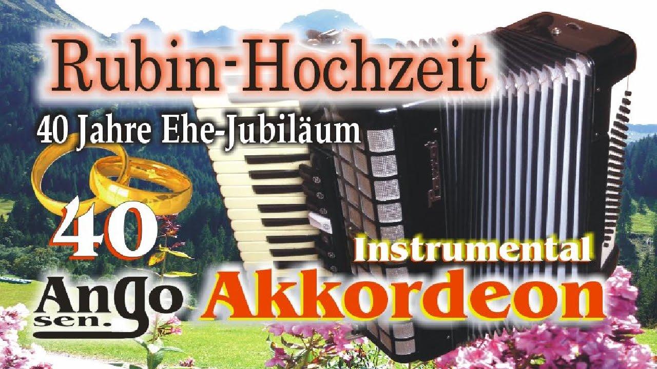 Akkordeon Ango Sen Rubin Hochzeit 40 Jahre Ehe Jubilaum