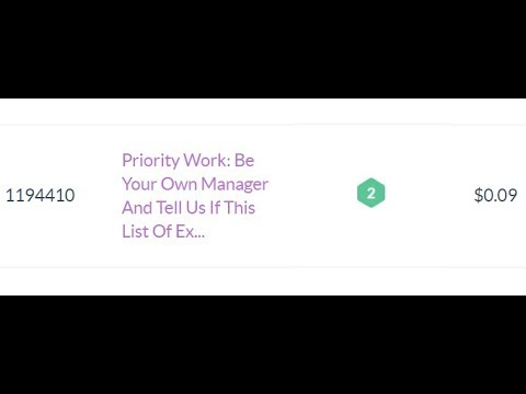 1194410  Priority Work  Be Your Own Manager And Tell Us If This List Of Ex  $0.09
