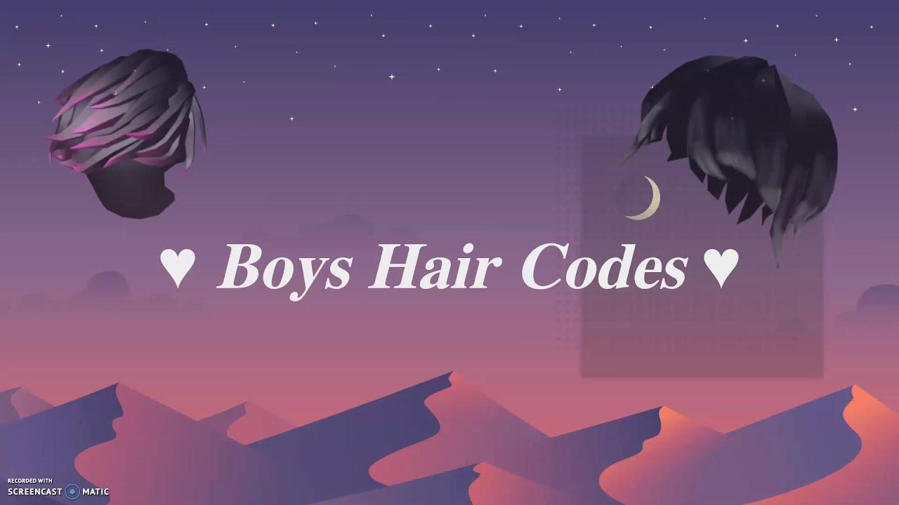 Roblox Boys Hair Codes Youtube