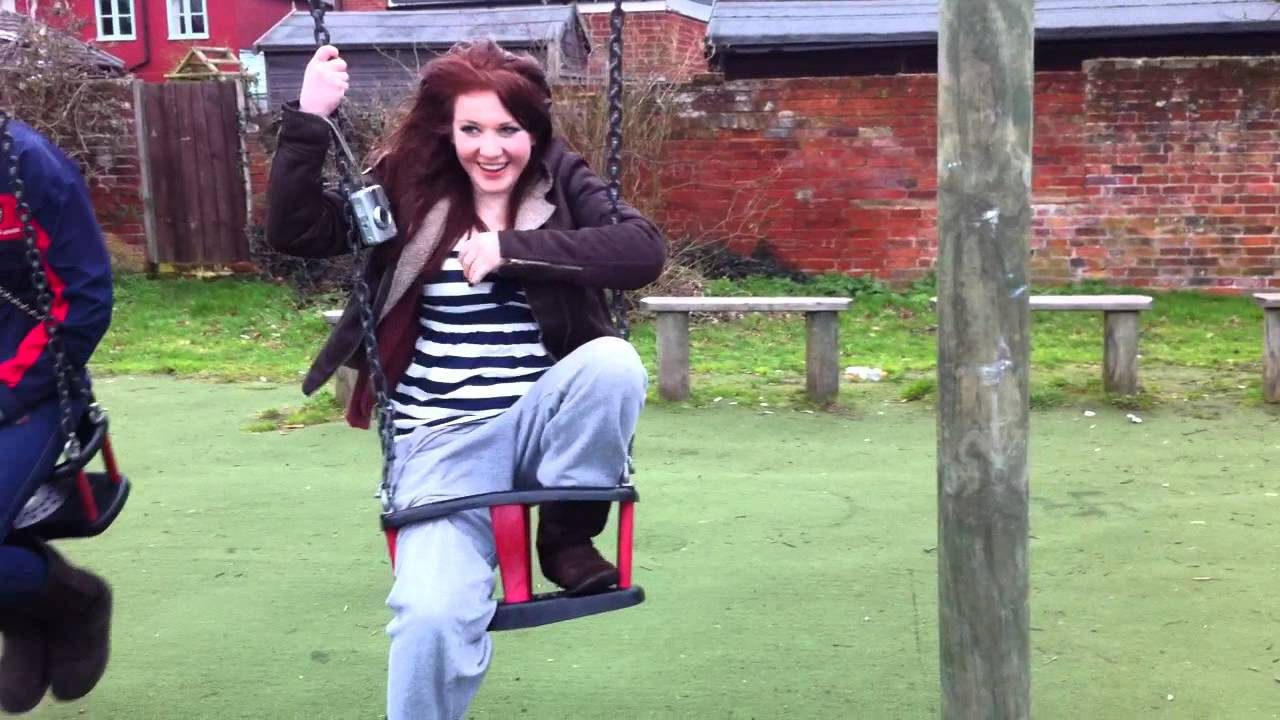 Girl Gets Stuck In Baby Swing - Youtube-8968