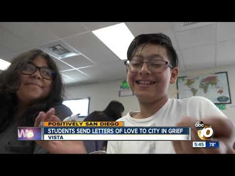 Vista students send letters of positivity to El Paso schools