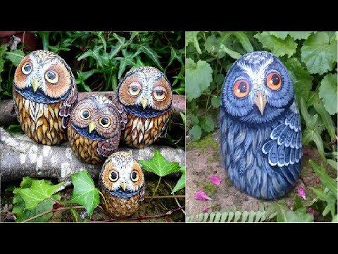 DIY Owl - Rock Painting - TUTORIAL
