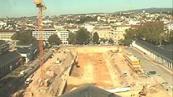 Kurhaus Wiesbaden, Bau der Tiefgarage Bowling Green 2005-2006 in 59 Sekunden dokumentiert