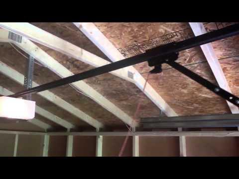 new shed door (solar powered garage door opener)