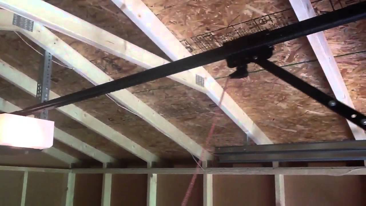 New Shed Door Solar Powered Garage Door Opener Youtube