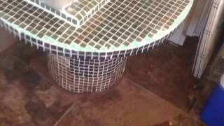 Diy Mosaic Table Idea For Wooden Wire Spool