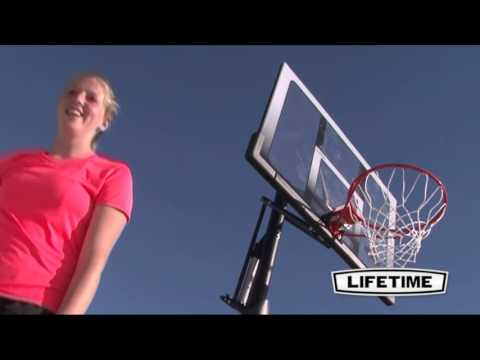 Lifetime 52 In. In-Ground Shatter Proof Basketball System With Slam-It Rim 71281- KitSuperStore.com