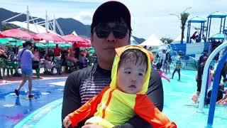하윤이 야외수영장
