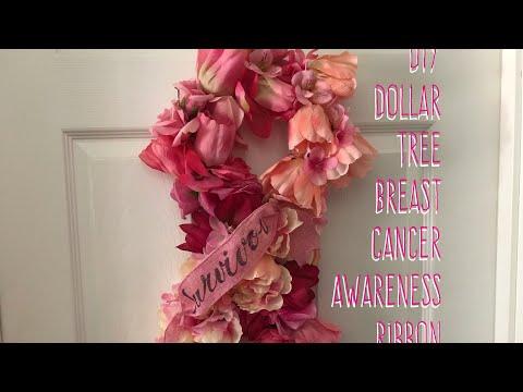 DIY Dollar TreeBreast CancerAwareness Ribbon