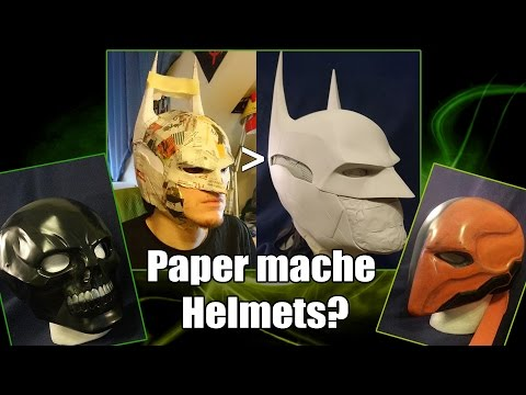 Cheap Amazing Helmet Tutorial How To Properly Use Paper Mache