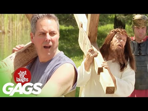 Jesus Carries The Cross Prank