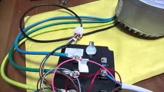Запуск BLDC безщеточного мотора постоянного тока 3кВт 72В на 48В воздушное охлаждение(В данном видео мы сделали запуск мотора который рассчитан на 72 Вольта, мы перепрошили контроллер который..., 2015-11-25T01:56:58.000Z)