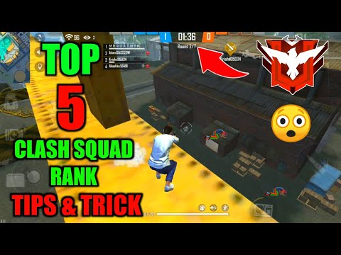 Top 5 Clash Squad Rank Mode Tips And Trick - Garena Free Fire // Clash Squad Rank Tips And Trick