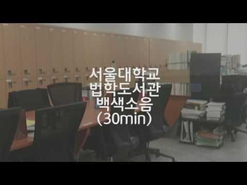 서울대학교 법대도서관 백색소음(30분)