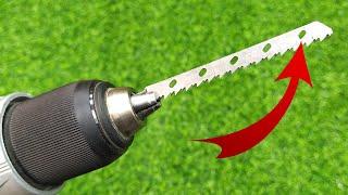 Гениальная идея использования пилок от лобзика! Отличный инструмент своими руками!
