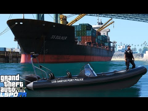 GTA 5 LSPDFR Coastal Callouts | Los Santos Port Police | No Unauthorized Boats In The Port