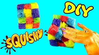 ЖЕЛЕЙНЫЙ Кубик Рубика / СКВИШИ игрушка антистресс из обычных мочалок