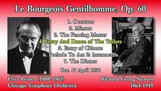 R. Strauss: Le Bourgeois Gentilhomme, Reiner & CSO (1956) R. シュトラウス 町人貴族 ライナー