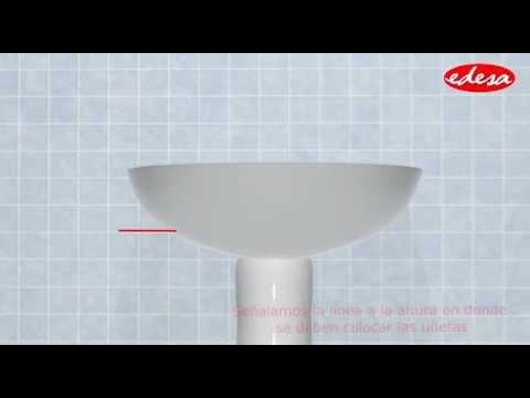 Instalaci n lavamanos pompano con pedestal largo youtube - Lavamanos sin instalacion ...