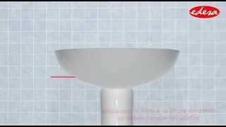 Instalación Lavamanos Pompano con pedestal largo