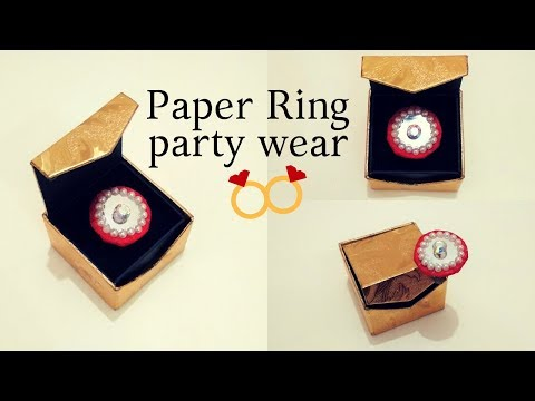 DIY Paper Ring How to make designer party wear ring with paper at home | DIY easy rings