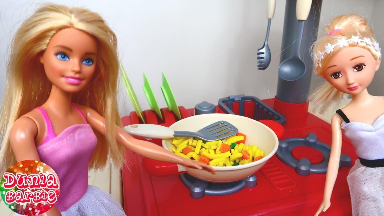 Barbie Cantik Main Masak Masakan Mainan Anak Perempuan Cerita Boneka Bahasa Indonesia Youtube