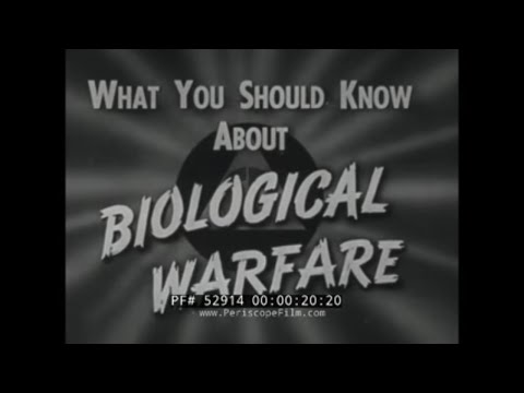"1951 CIVIL DEFENSE FILM  ""WHAT YOU SHOULD KNOW ABOUT BIOLOGICAL WARFARE"" 52914"