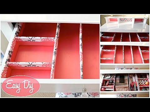 How To: Easy Custom Makeup Drawer Organizer $11 | Aseamae