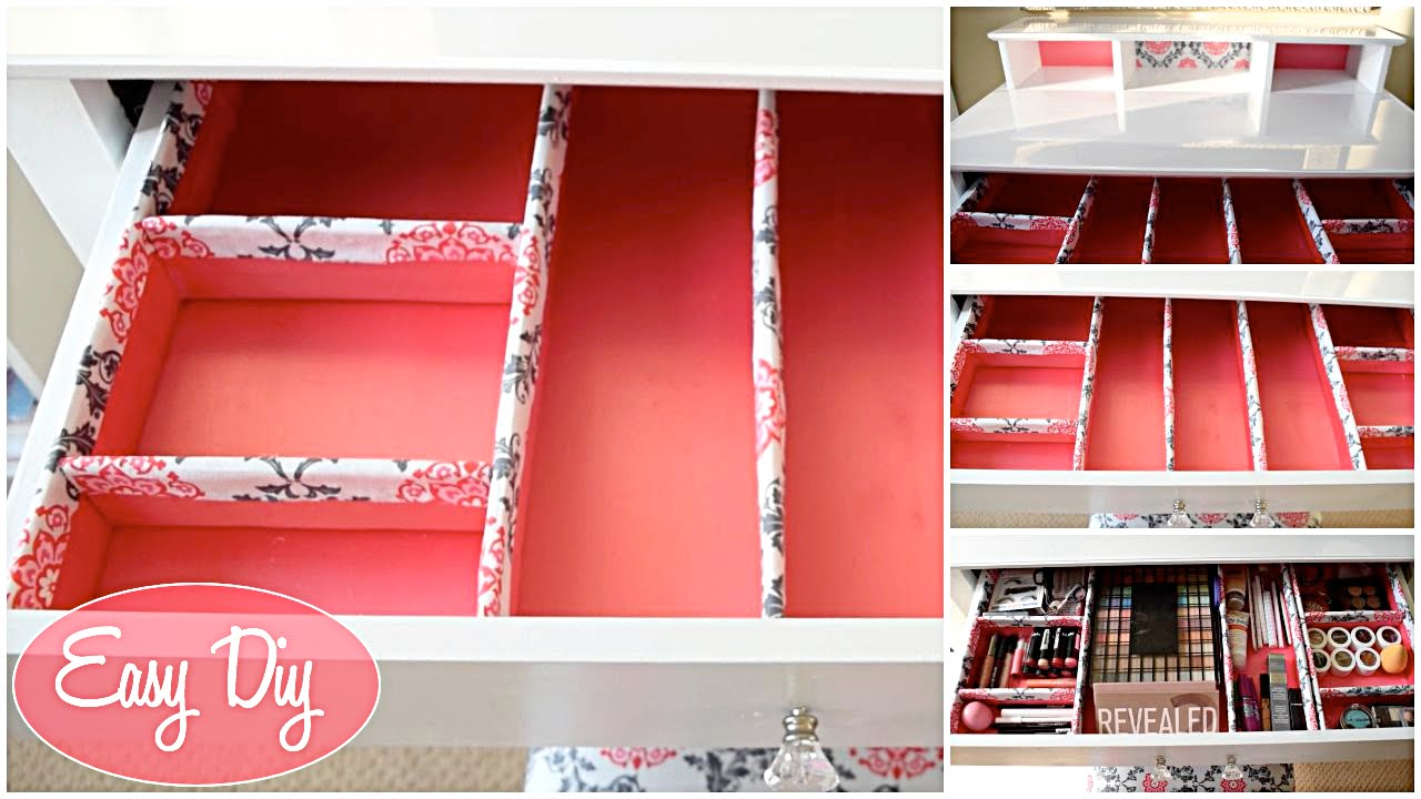 Design Makeup Drawers how to easy custom makeup drawer organizer 11 aseamae youtube