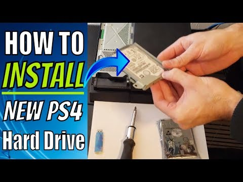 How to install NEW PS4 Hard Drive (500GB to 2 TB) Upgrade Tutorial 2019!