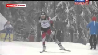 ГОНКА ПРЕСЛЕДОВАНИЯ 1.02.2015 Российско Украинский ФИНИШ Женшины IBU Biathlon World Cup Wo