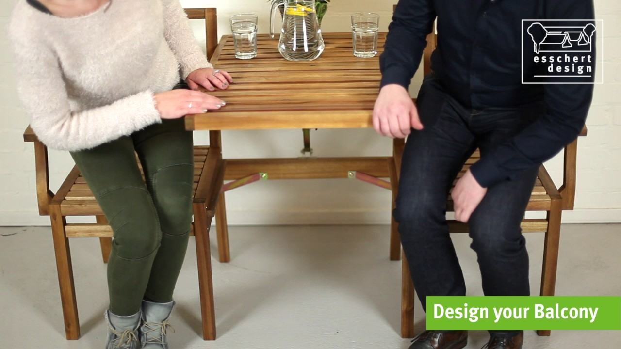 Banc en bois convertible en salon de jardin Esschert design - YouTube
