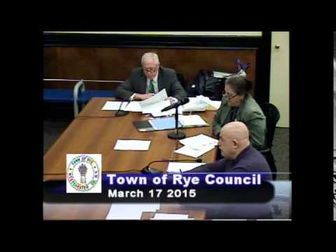 Town of Rye Council Meeting – March 17, 2015