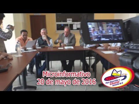 Microinformativo 20 mayo 2016