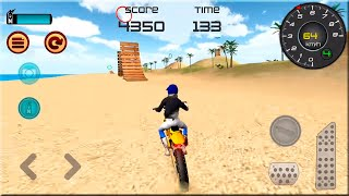 Motocross Beach Jumping 3D Android Gameplay - Extreme Motor Bike Stunts Games