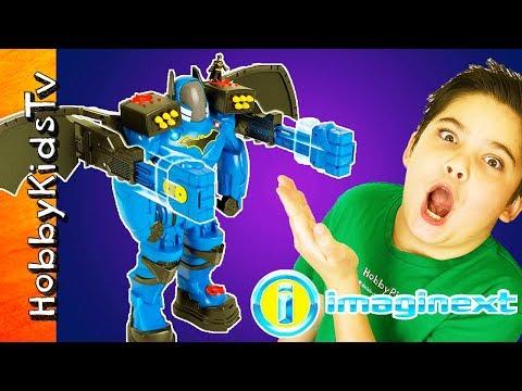 🦇 GIANT BATMAN BATBOT EXTREME! Imaginext Fisher Price Toy Play + Skit Family Fun HobbyKidsTV